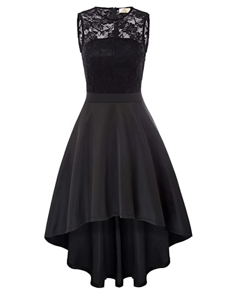 GRACE KARIN Vestido Elegante de Fiesta para Mujer sin Mangas Negro S