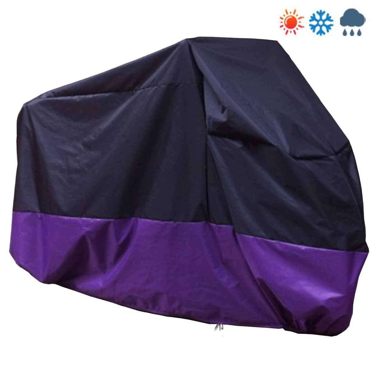 Motorrad Abdeckplane mit Tasche Staubdicht Wasserdicht Anti-UV Faltgarage Outdoor Indoor Schutzh/ülle XXL 180T Motorradabdeckung