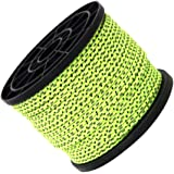 Sharplace 4mm x 50m Ultra Light Green Reflective Guyline Tent Rope Guy Line Camping Awning Cord Paracord Outdoor Tent Accessories