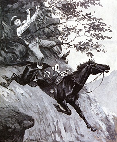 Frederic Remington Tom Kicked Away The Stirrups and Grasped The Low Branch of a Live Oak Tree Private Collection 30