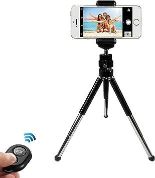 tr/ípode para iPhone X 6 Plus tr/ípode Gopro con Mando a Distancia Bluetooth tr/ípode Ligero 7S Tr/ípode para tel/éfono m/óvil tr/ípode para iPhone Soporte para tel/éfono m/óvil Samsung Galaxy
