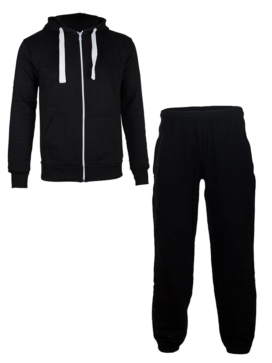 Love My Fashions® Mens Tracksuit Jogging Bottoms Zip Up Fleece Sports Gym Hoodie Drawstring Long Sleeves Warm Trouser Top Size S M L XL XXL