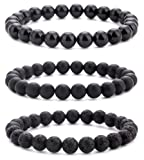 Amazon Price History for:Hamoery Men Women 8mm Natural Stone Beads Bracelet Elastic Yoga Agate Bracelet Bangle
