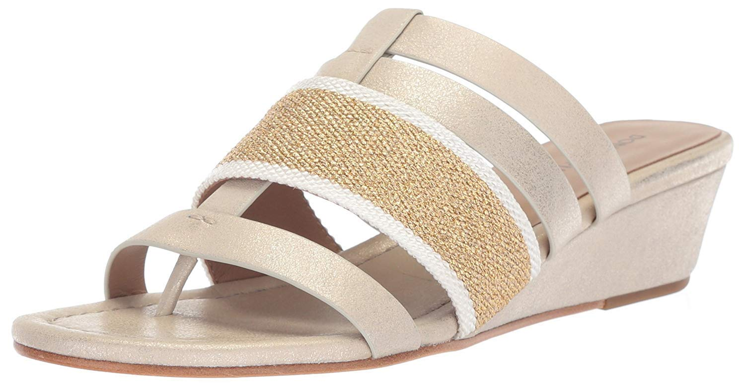 Donald J Pliner Women's DARA Wedge Sandal, Platino, 7 Medium US