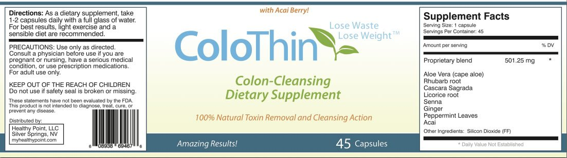 Colothin Colon Cleanse Detox, Super Saver!! 10 bottle special!! 45 count each bottle, Weight loss, Dietary Supplement