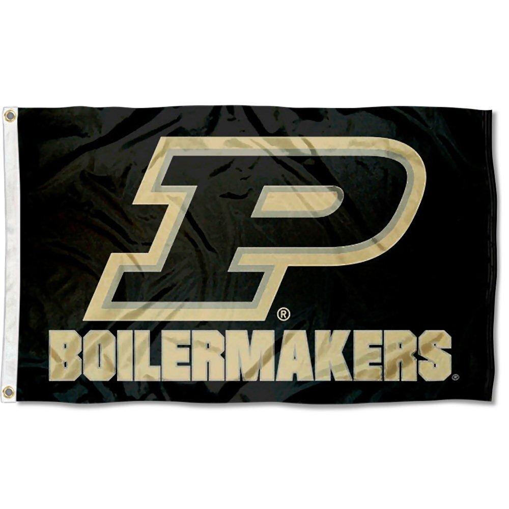Purdue Boilermakers Slant Pロゴフラグ   B079MJ3578