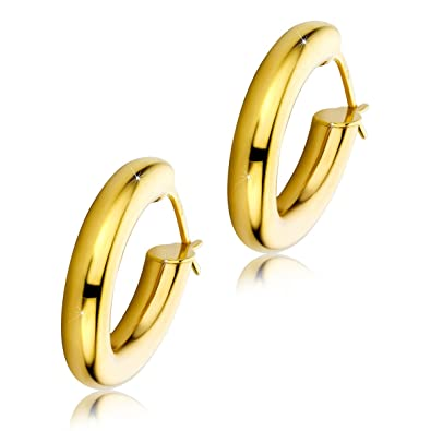 Orovi Woman Hoops Earrings 9 ct / 375 Yellow Gold YFjPx