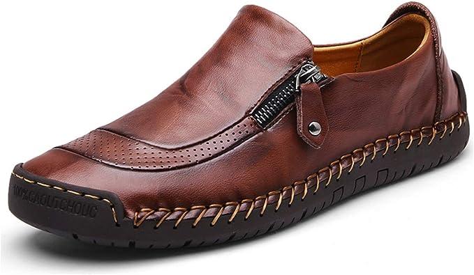 Moodeng Mocassini Uomo Pelle Estivi Classic Scarpe Loafers Slip On Scarpe da Guida Scarpe da Barca