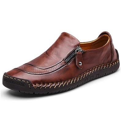 d003818e8d Mocassini Uomo Pelle Estivi Pantofole Casual Eleganti Slip On Scarpe da  Guida Scarpe da Barca Classic Loafers
