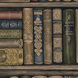 Norwall LL29570 Bookcase Wallpaper