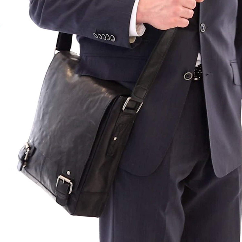 ASHWOOD - 8342 - Bolso Bandolera - Apto para portátil y iPad de tamaño A4 - Marrón