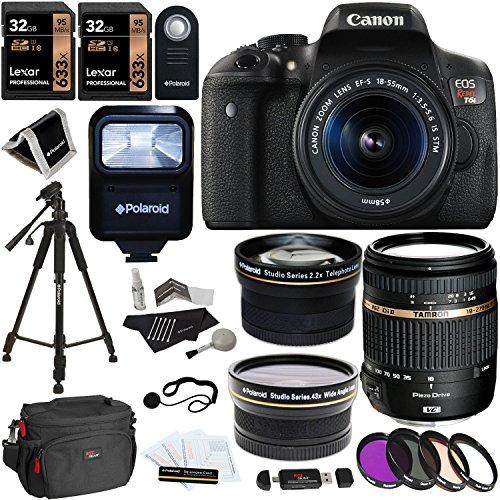 Canon EOS Rebel T6i Digital SLR Kit EF-S 18-55mm IS STM Lens