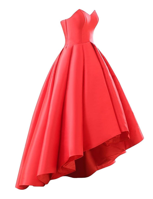 9ab2b139c23 Amazon.com  Fluorodine Women Sweetheart Short Front Long Back A Line High  Low Prom Dress  Clothing