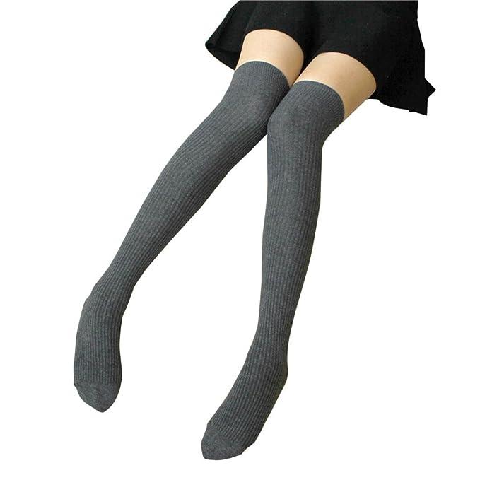 a077ddb393b24 Saingace 1 Paar Oberschenkel Hohe Socken Über Knie Streifen Mädchen ...