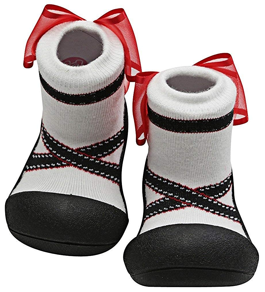 Attipas Newborn 3-40 months Baby Girls Soft Sole Toddler Prewalker Socks cum  Shoes Cozie Fleece Trainer Flats Booties, Black: Amazon.in: Shoes & Handbags