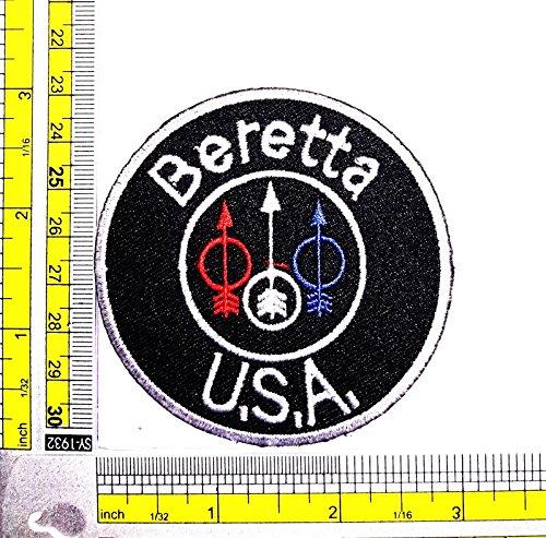 [Beretta Rifle Pistol Gun Shotgun Firearms Knife Patch Logo Sew Iron on Embroidered Appliques Badge Sign] (Top Gun Costume Patches)