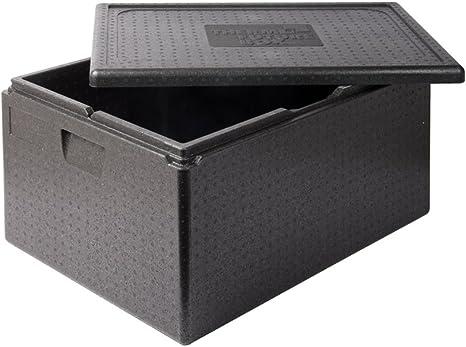 Thermo Future Box 80 L Lunchbox Thermobox Kühlbox Transporte para Mantener el Calor y la Caja Aislante con Tapa térmica de Polipropileno expandido, Negro, 68,6 x 48,5 cm Dinnerbox: Amazon.es: Hogar