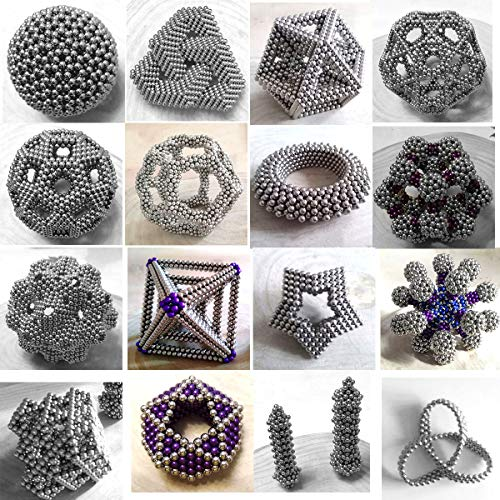 aBrilliantLife 5MM 1000 Pieces Magnetic Balls Toys Sculpture Building Magnetic Blocks Magnets Cube Gift for Intellectual Development -Office Toy Stress Relief Gifts for Teens and Adult-Sliver by aBrilliantLife (Image #5)