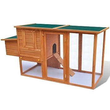 Xingshuoonline Gallinero de Madera para Exterior con Compartimento para Huevos,Jaula para Mascotas: Amazon.es: Productos para mascotas
