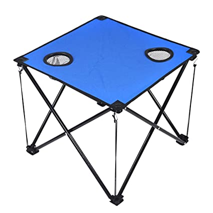 XD Folding table Mesa Plegable, 2 Portavasos De Malla ...