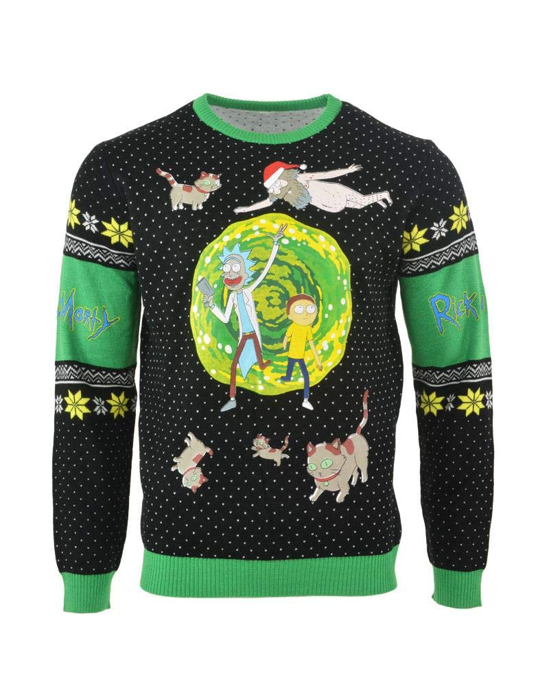 Rick and Morty Christmas Jumper Ugly Sweater Portal for Men Women Boys and Girls Numskull