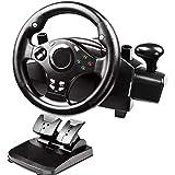 Volante de jogo Homyl Racing com pedais Gear Controller Gamepad Shifter rotação de 270 graus para Xbox360
