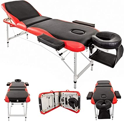 Swell Massage Table Couch Bed Aluminium Deluxe Lightweight Professional Beauty Tattoo Spa Reiki Portable Folded 3 Section With Premium Pu Leather And 5 Cm Theyellowbook Wood Chair Design Ideas Theyellowbookinfo