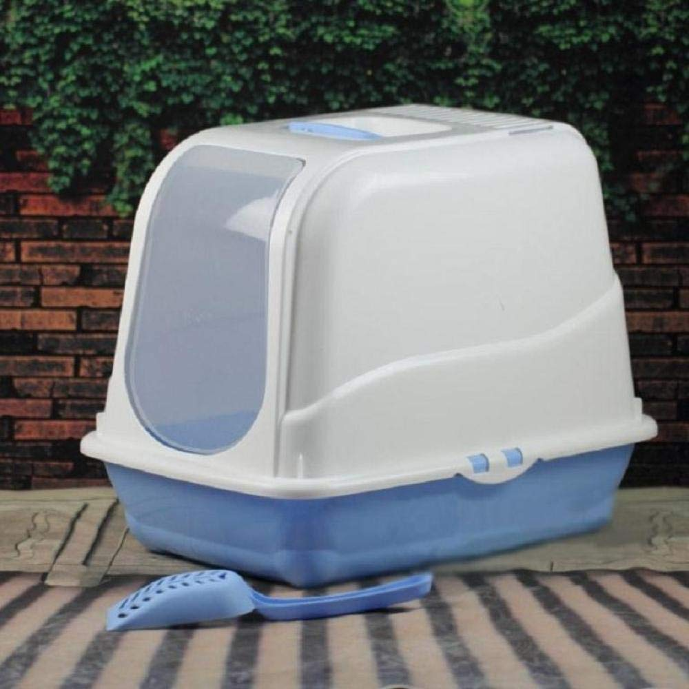 1(a) Cat toilet Fully Enclosed Litter Box (gift Litter Scoop),1(A)