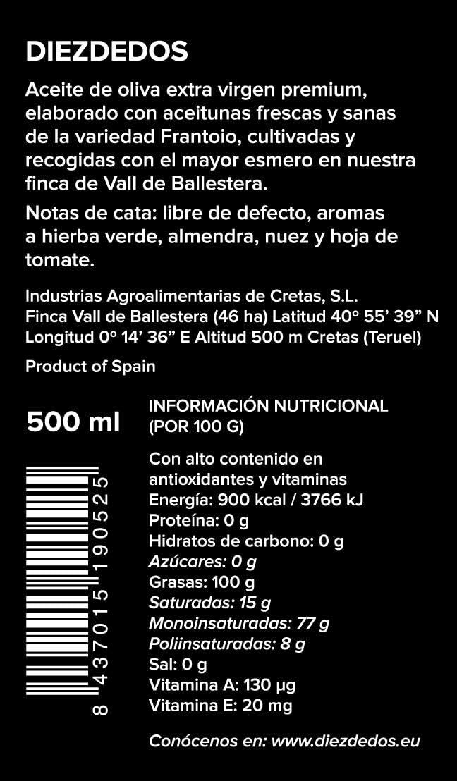 Frantoio Diezdedos – Aceite de Oliva Virgen Extra Premium Gourmet ...