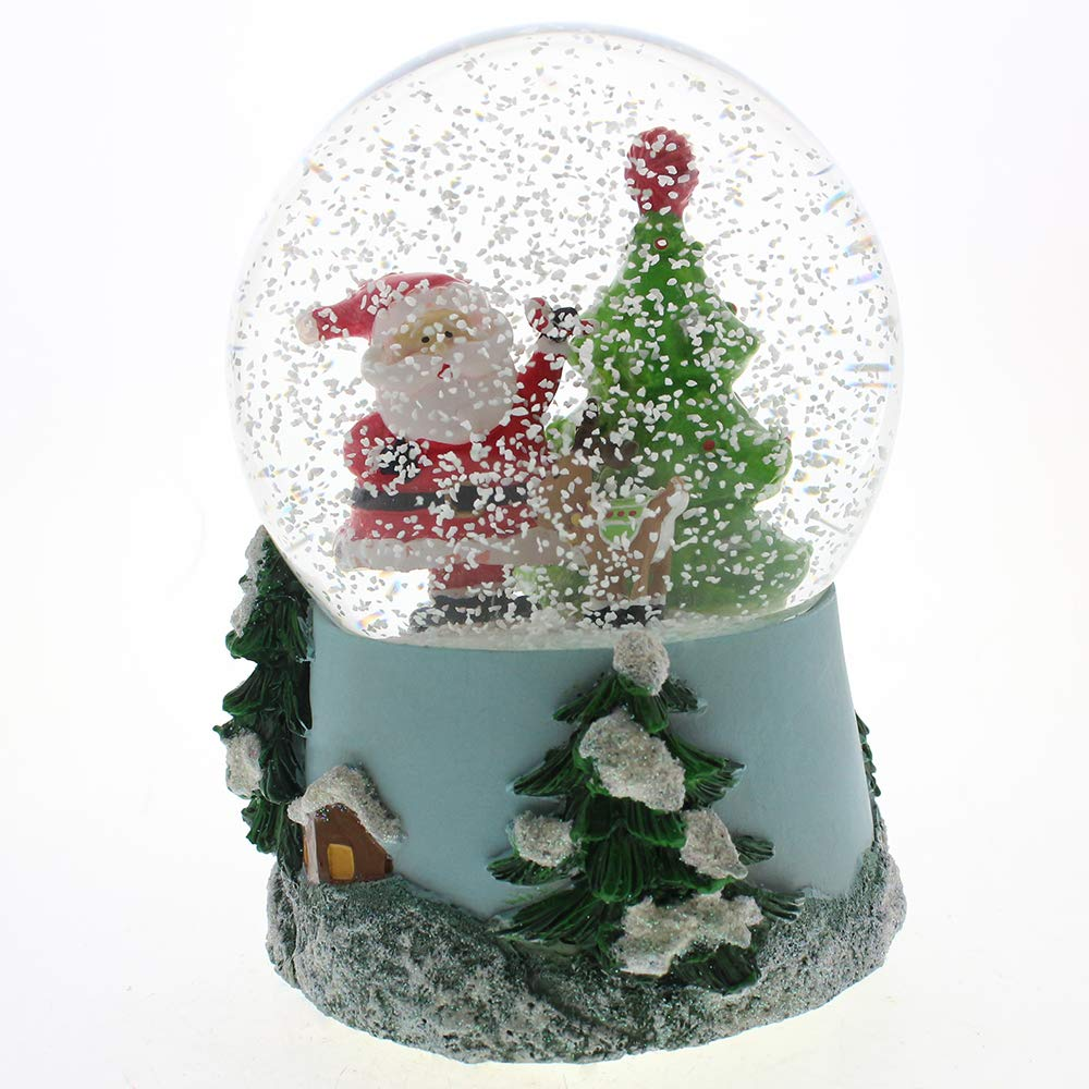 Santa Claus Musical Snow Globe Glitter Dome with Multi Lighting, LED Water Ball