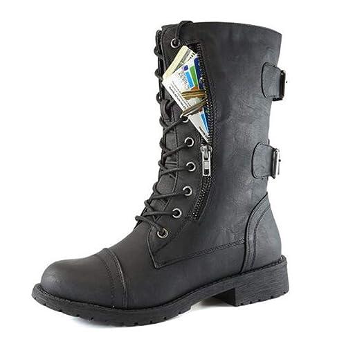 Botas De Combate De Cordón Militar Con Cordones, Para Mujer,