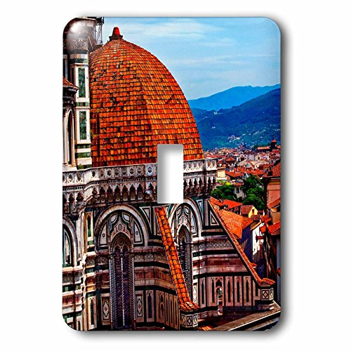 3dRose Danita Delimont - Cities - Cityscape from Duomo Basilica Cathedral Church, Florence, Italy - Light Switch Covers - single toggle switch - Light Duomo 1