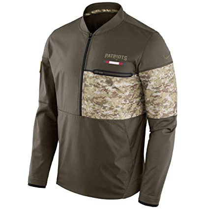 New England Patriots NFL Salute to Service Sideline Men s Hybrid Jacket  (Large) 351255053