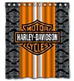 Nicoge Custom Racing Stripes Waterproof Fabric Shower Curtain 66X72 Inch 12 Holes