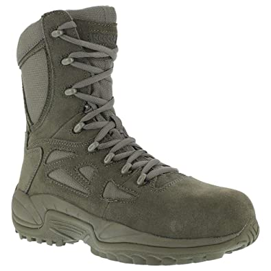 06bc71d207bb Reebok Women s Stealth 8 quot  Lace-Up Side-Zip Work Boot Composite Toe Sage
