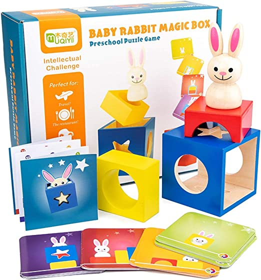 XUEE Juguetes educativos para niños, Bunny Magic Box Hide and Seek, Juego de Mesa Interactivo para Padres Juguete Educativo: Amazon.es: Hogar