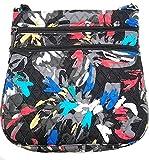 Vera Bradley Triple Zip Hipster Splash Floral Crossbody Bag