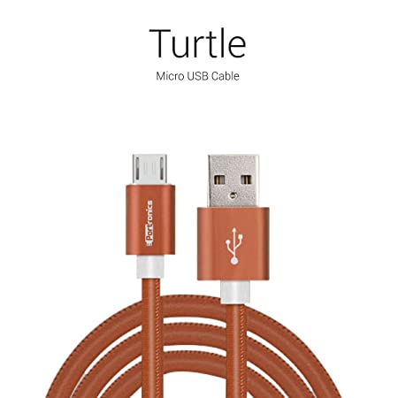 Portronics Turtle micro USB cable Brown Mobile Phone Data Cables