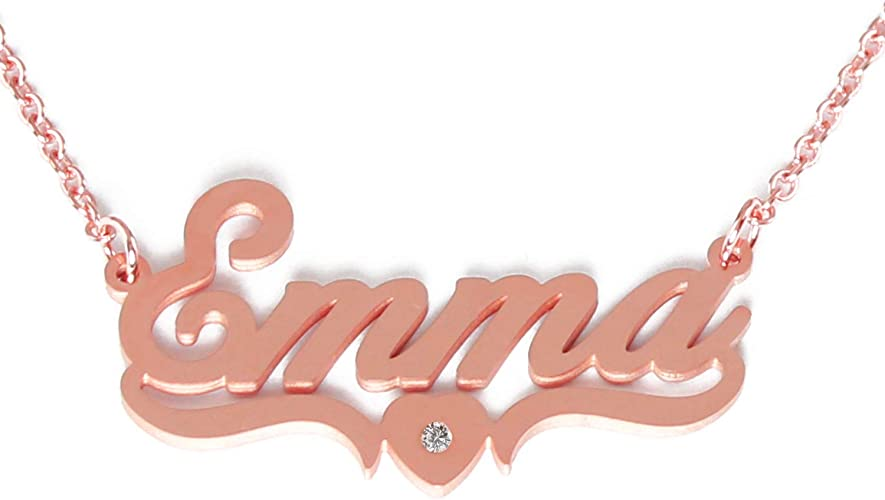 """18ct Gold Plated Name Necklace /""""EMMA/"""" Accessories Thank You Jewellery Gifts"""