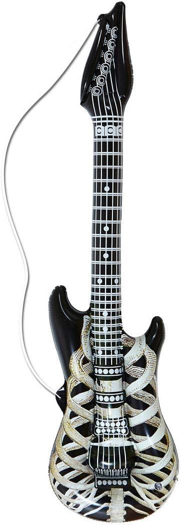 NET TOYS Guitarra Inflable para Estrellas de Rock Efecto Esqueleto ...