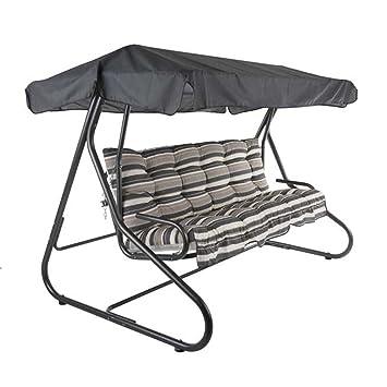 Merveilleux Balancelle Sungörl Milano Balancelle De Jardin Alu/textilène  Anthracite/gris Banc