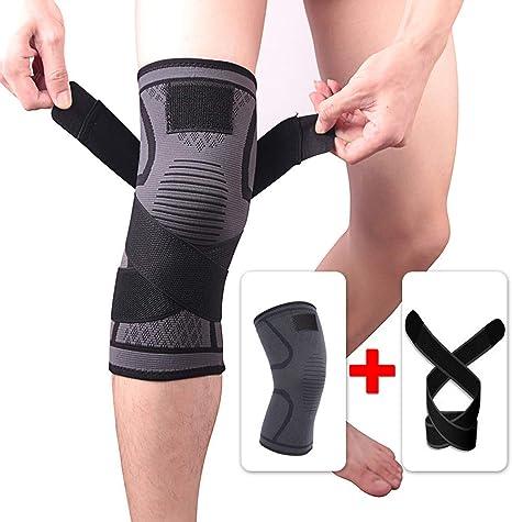 ZXYSR Supportare Le Ginocchia alleviare Il Dolore al Ginocchio Cinturini Antiscivolo per la Corsa o lesercizio Fisico lartrite e Il Recupero della ferita