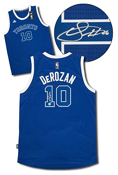 Demar DeRozan Toronto Huskies Autographed Signature Raptors Retro Adidas  NBA Swingman Jersey - COA Included 8028708bb