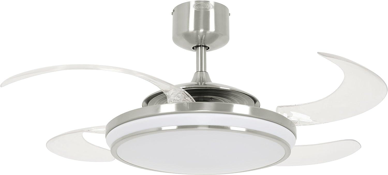 Beacon Fanaway Evo1 LED Ventilador, Cromo y Blanco, 122 cm Durchmesser: Amazon.es: Iluminación