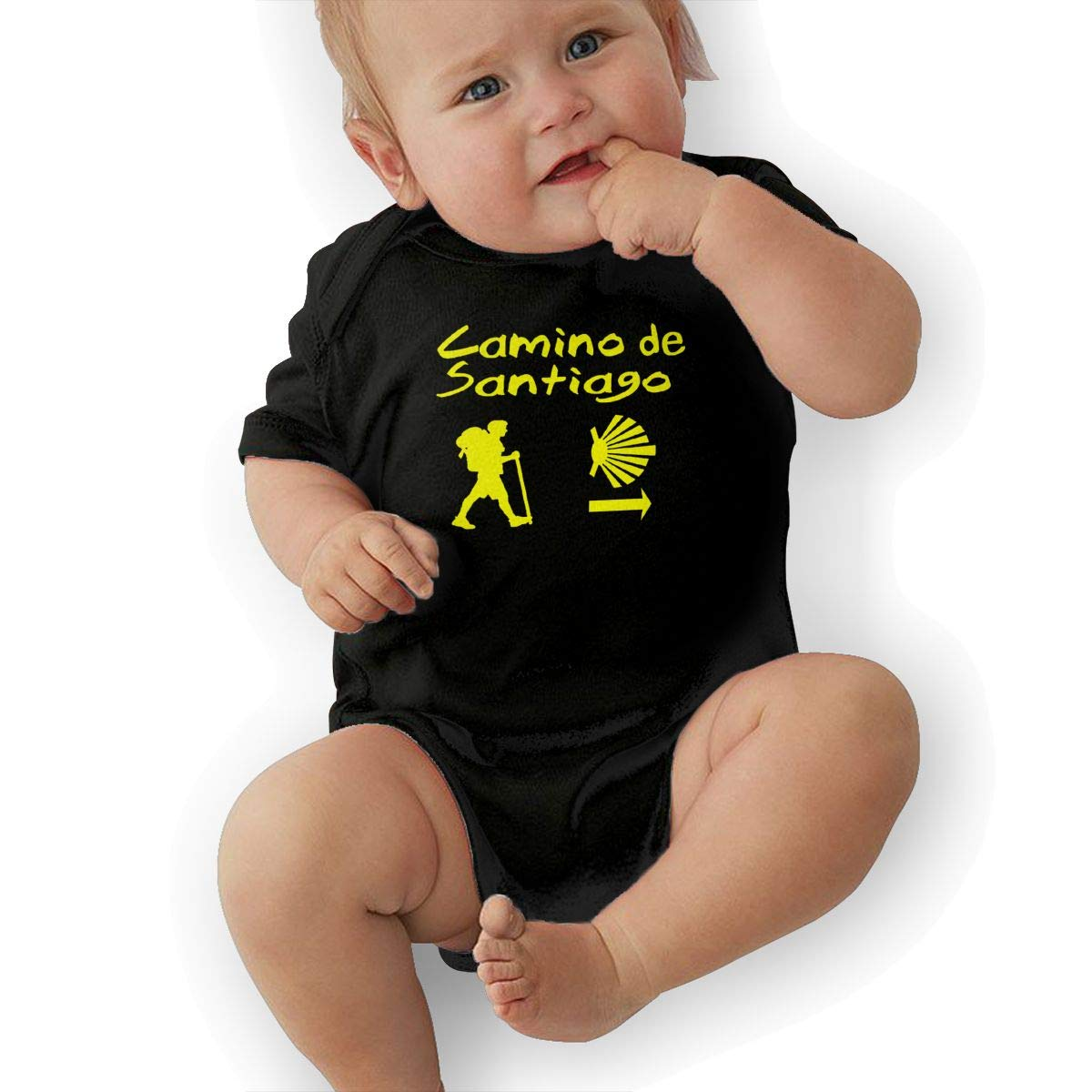 0-24 Months Serity Camino De Santiago Compostela Baby Short-Sleeve Baby Climbing Clothes Playsuit Outfits with Bib for New Born Boys /& Girls