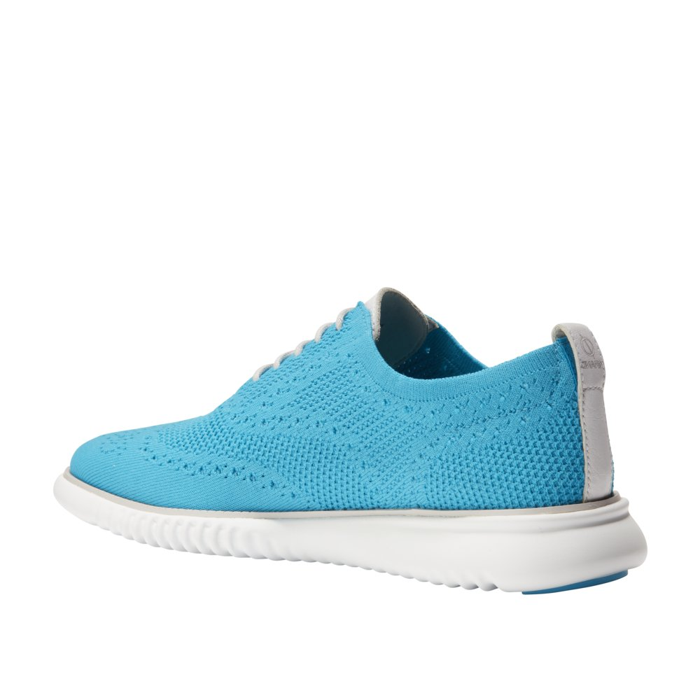 Cole Haan Men's 2 Zerogrand Oxford with Stitchlite 11 Atomic Blue Knit-Vapor Gray by Cole Haan (Image #5)