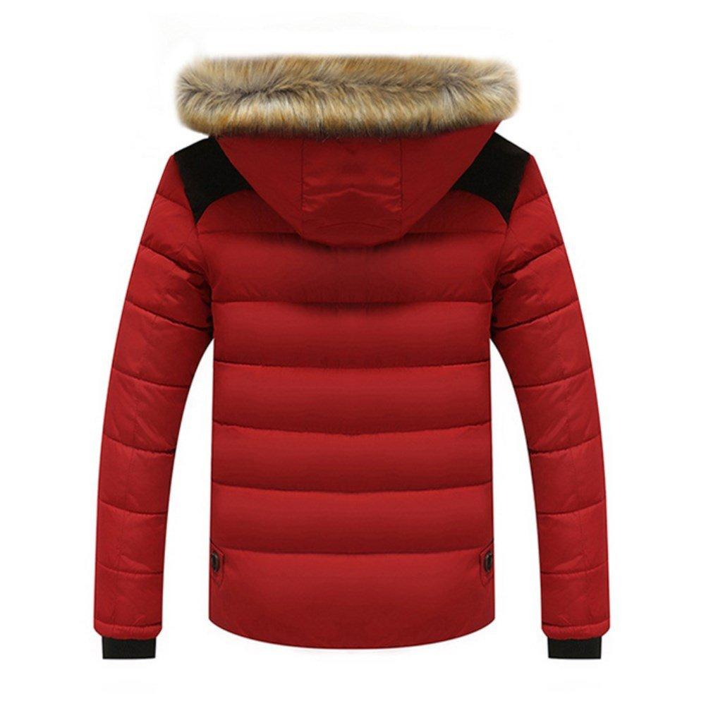 Qingxian Winterjacke Herren Wattierte Steppjacken Mit Fellkapuze Down Jacket Jacket Jacket Warme Mäntel Winterjacke B0769HFLZ7 Mntel König der Menge 7755ce