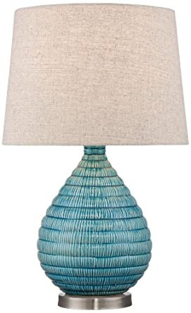 Kayley Blue Ceramic Table Lamp Amazon Com
