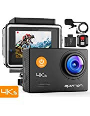 Apeman A79 Action Cam 4K WiFi (16MP, Unterwasser 40m Wasserdicht, Fernbedienung und Externes Mikrofon)