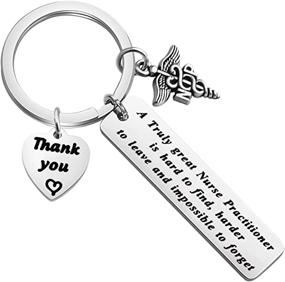 ENSIANTH Medical Secretary Gift A Truly Great Medical Secretary is Hard to Find,Difficult to Part with Keychain Medical Secretary Appreciation Gift